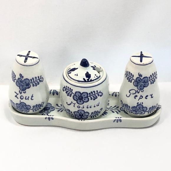 Delft Condiment Set - Delfts Blauw - Holland